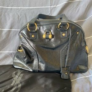 Yves Saint Laurent Muse Patent Leather Bag